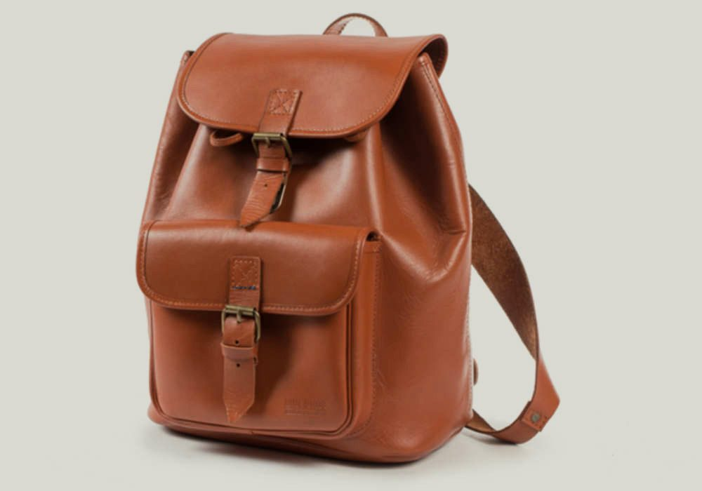 leather backpack rucksack leder brown braun
